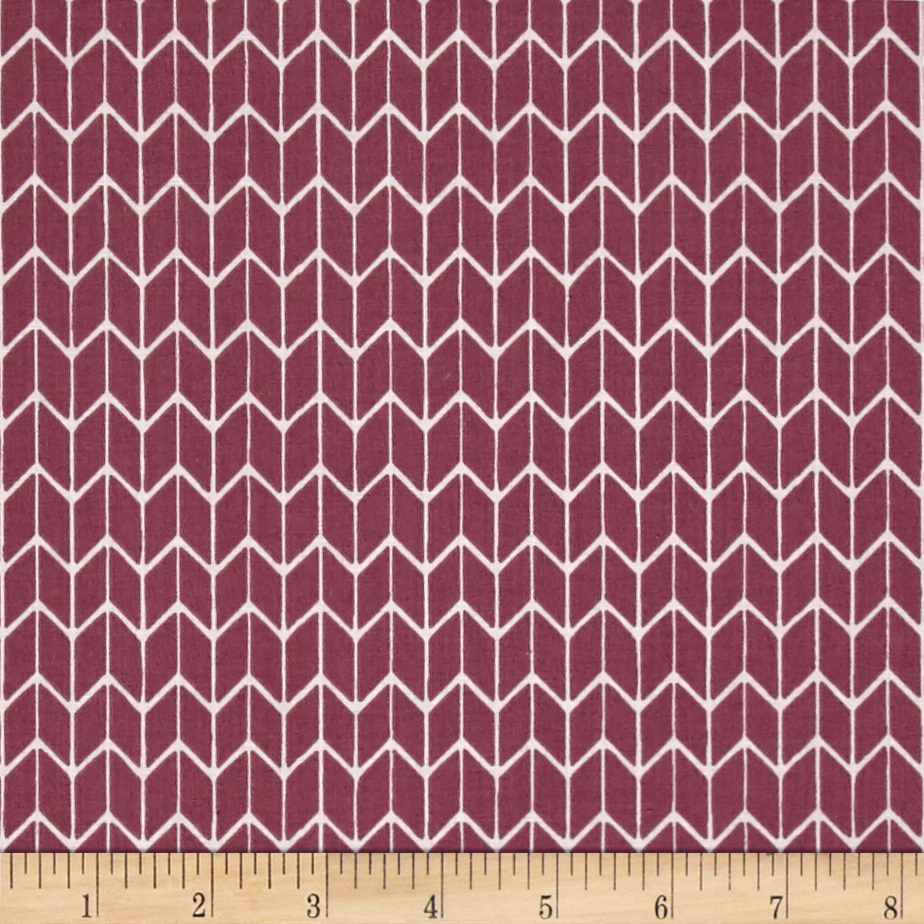 Cosy Home Chevron Mauve Fabric