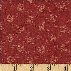 Jeanne Horton The Settlement Collection Paisley Red