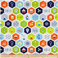 Geek Chic Large Hexagon White