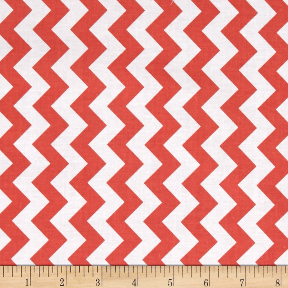 Riley Blake Small Chevron Rouge Fabric