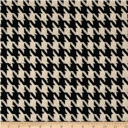 Fancy Houndstooth Basketweave Coating Black/White