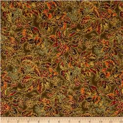 Moda Autumn Elegance Metallic Woods Olive