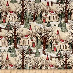 Susan Winget Winter Church Scenic Multi