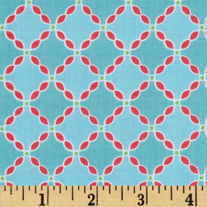 Riley Blake Flower Patch Flower Lattice Blue