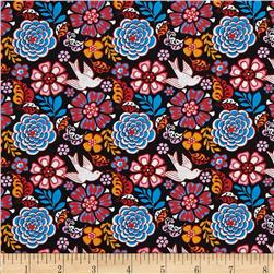 Mexican Folklore Floral Black