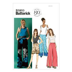 Butterick Misses' Shorts and Pants Pattern B5893 Size 0Y0