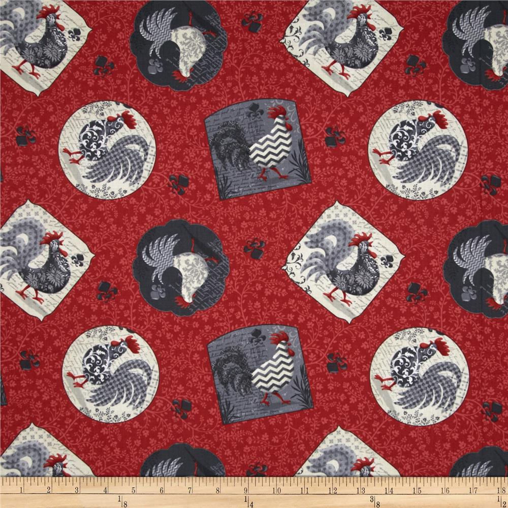 Poulets de Provence Tossed Patch Red
