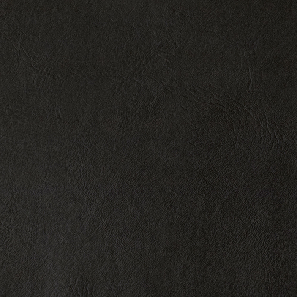 Flannel Backed Faux Leather Majik Black Fabric