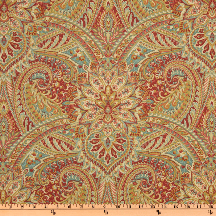Waverly Swept Away Paisley Berry Fabric