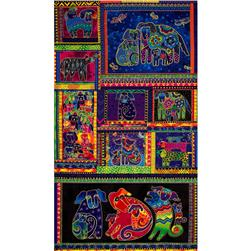 Laurel Burch Dogs & Doggies 23'' Panel Multi