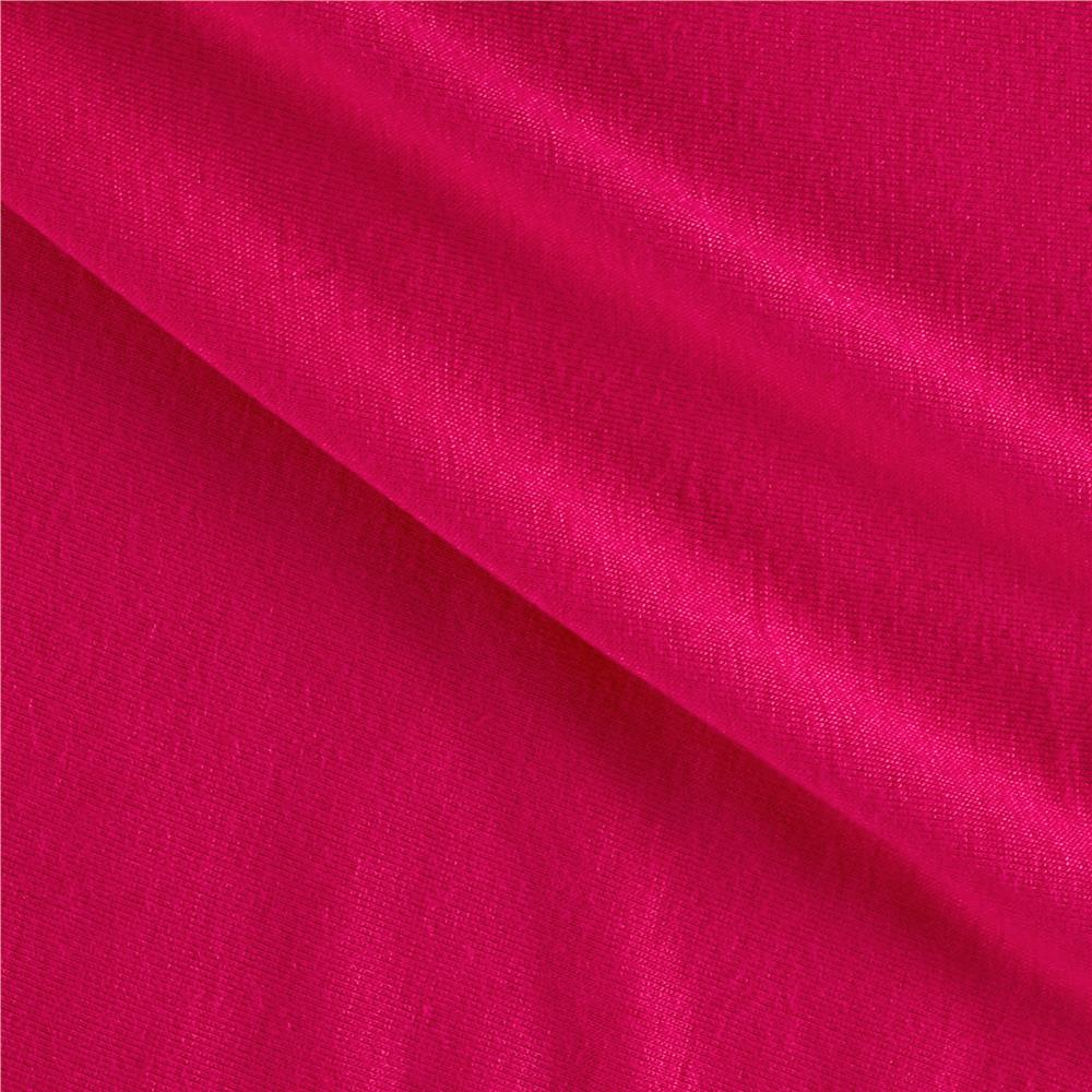 Jersey Knit Solid Bright Fuchsia