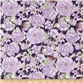 Butterfly Botanical Botanical Floral Purple