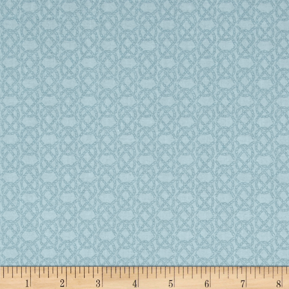 Lewis & Irene Harbour Side Rope Teal Fabric by E. E. Schenck in USA