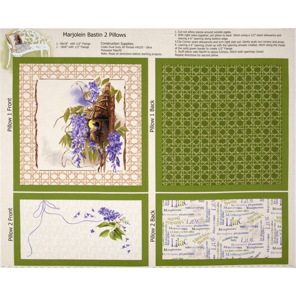 Nature's Palette Pillow Panel Green