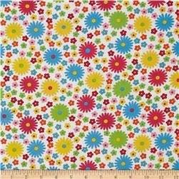 Newcastle Daisies & Flowers White/Multi