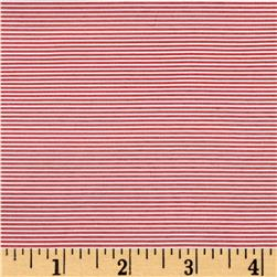 Pincord Stripe Peppermint Red