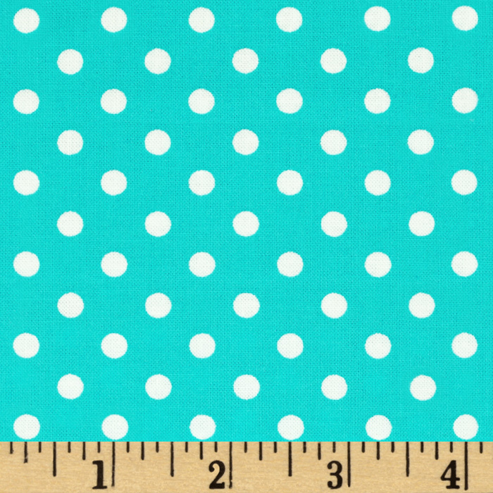 Michael Miller Dumb Dot Robins Egg Fabric