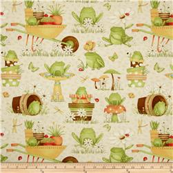 Hip Hop Friends Frogs in the Garden Tan/Multi