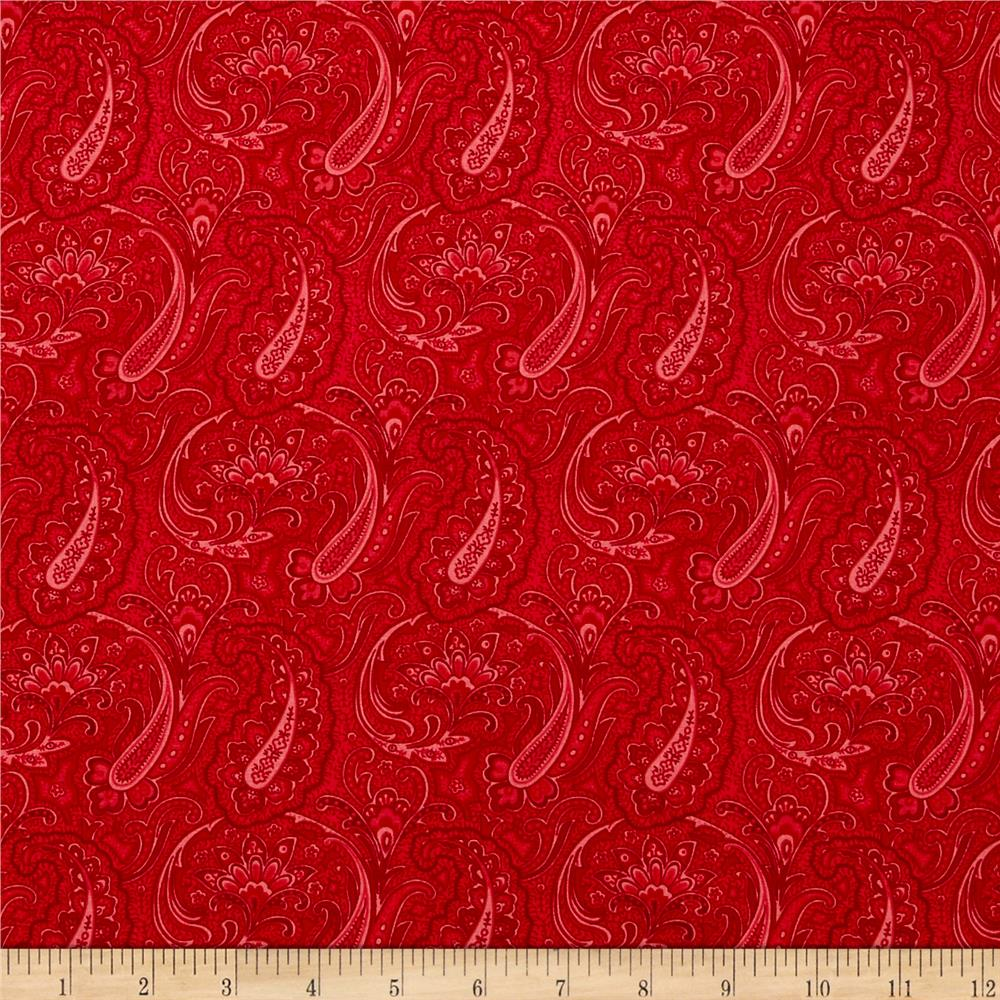 Let Freedom Ring Allover Paisley Red