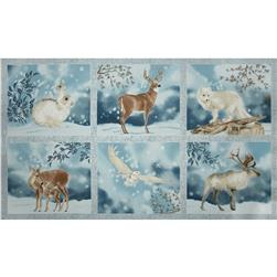 Robert Kaufman Winter White Metallic 24 In. Panel Frost
