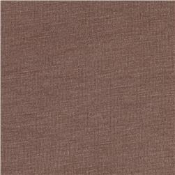 Rayon Cotton Jersey Knit Milk Chocolate