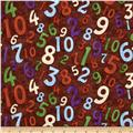 Kid's Corner Tossed Numbers Brown/Multi