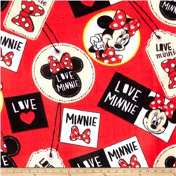Disney Minnie Badges Fleece Red