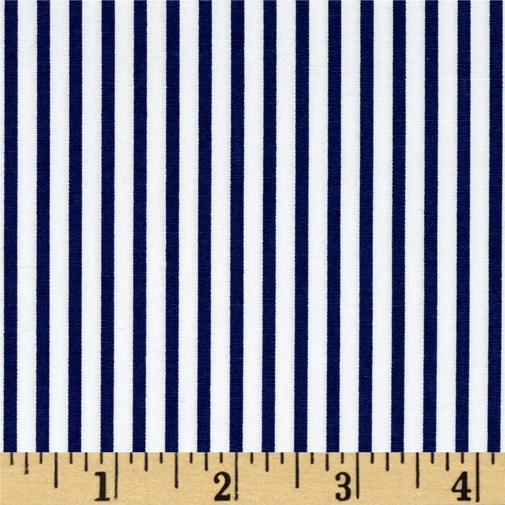 Kaufman Sevenberry Petite Basics Mini Stripe Royal