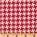 Michael Miller Textured Basics Vintage Houndstooth Red