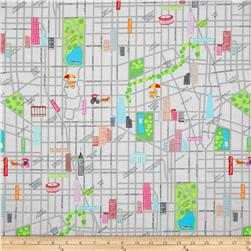 The Big Apple City Street Multi Fabric