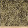 Contempo Hand Made Faux Linen Damask Khaki
