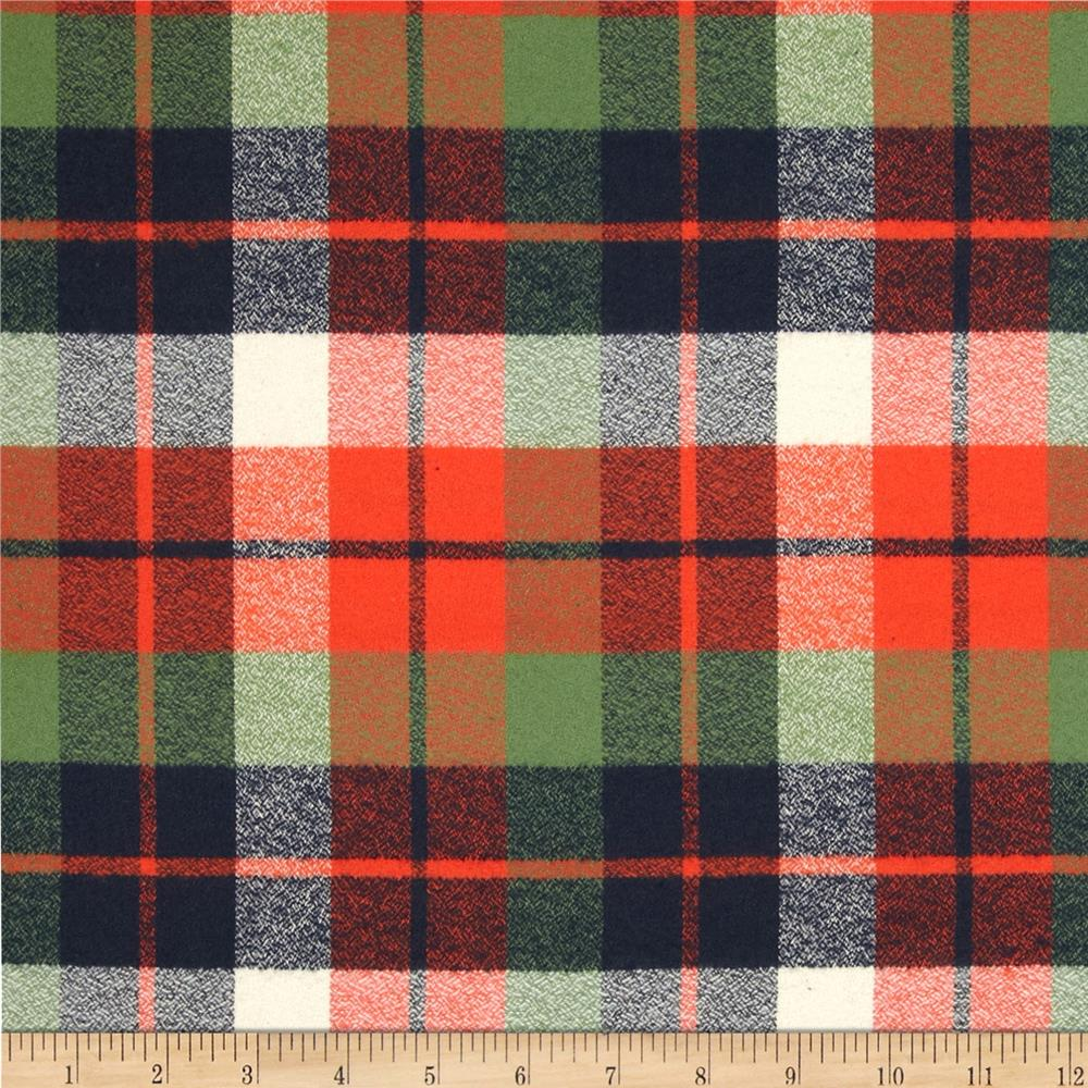 Kaufman Mammoth Flannel Plaid Adventure Fabric By The Yard