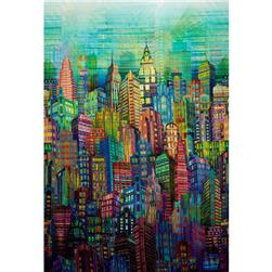 Digital Prints Skylines City Multi