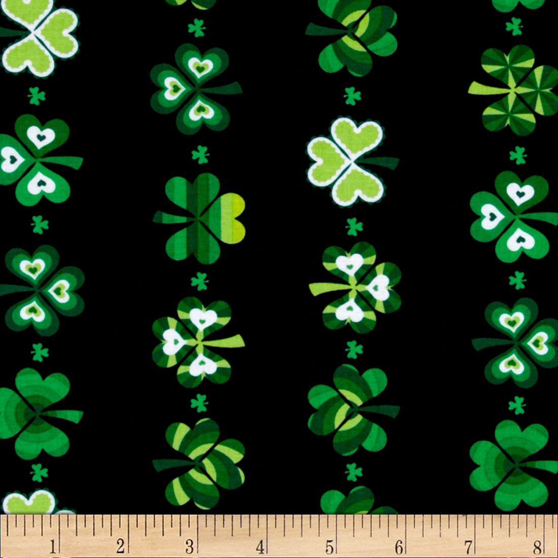 Kanvas Celebrations Shamrock Stripe Black