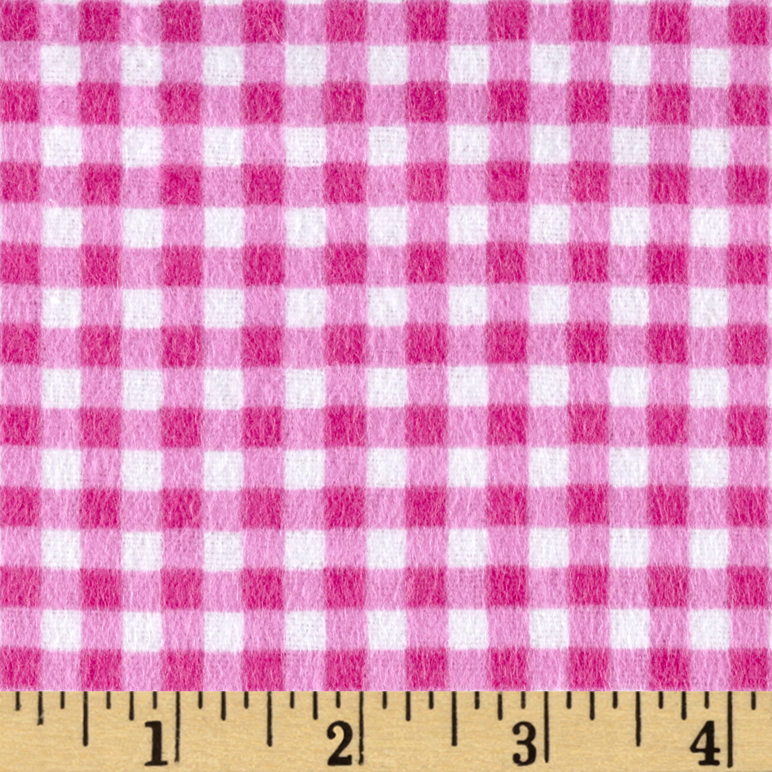 Flannel Basic Plaid Berry Fabric by David in USA