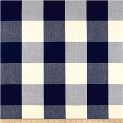 "Laura & Kiran 4"" Check Plaid Canvas Navy"