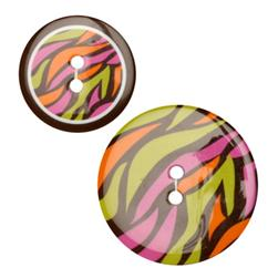 Fashion Buttons 1.00'', 1 3/8'' Coordinates On The Wild Side Multi