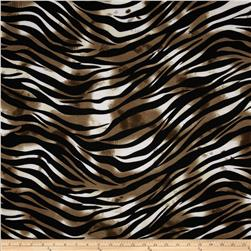 Stretch Jersey Knit Animal Skins Zebra Brown/Black