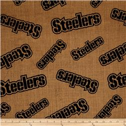 NFL Printed Burlap Pittsburgh Steelers