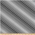 Kanvas Op Art Reflections Illusion Stripe Black