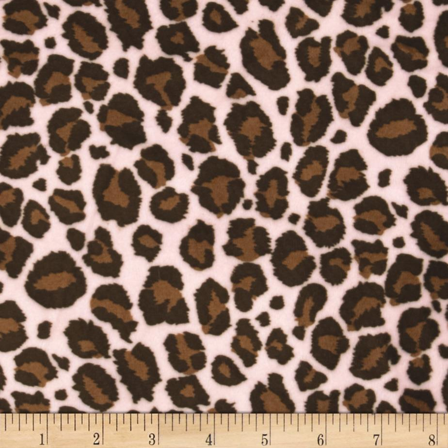 Minky Cuddle Jaguar Pink/Brown