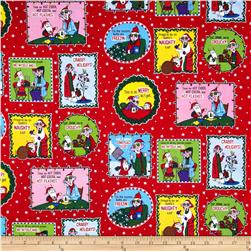 Maxine Christmas Labels Holiday Red
