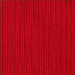 Stretch Hatchi Rib Knit Red