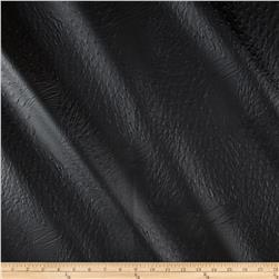 Faux Leather Ostrich Black