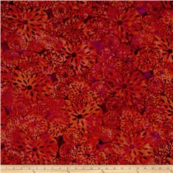 Island Batik Lavish Seed Flower Orange/Purple