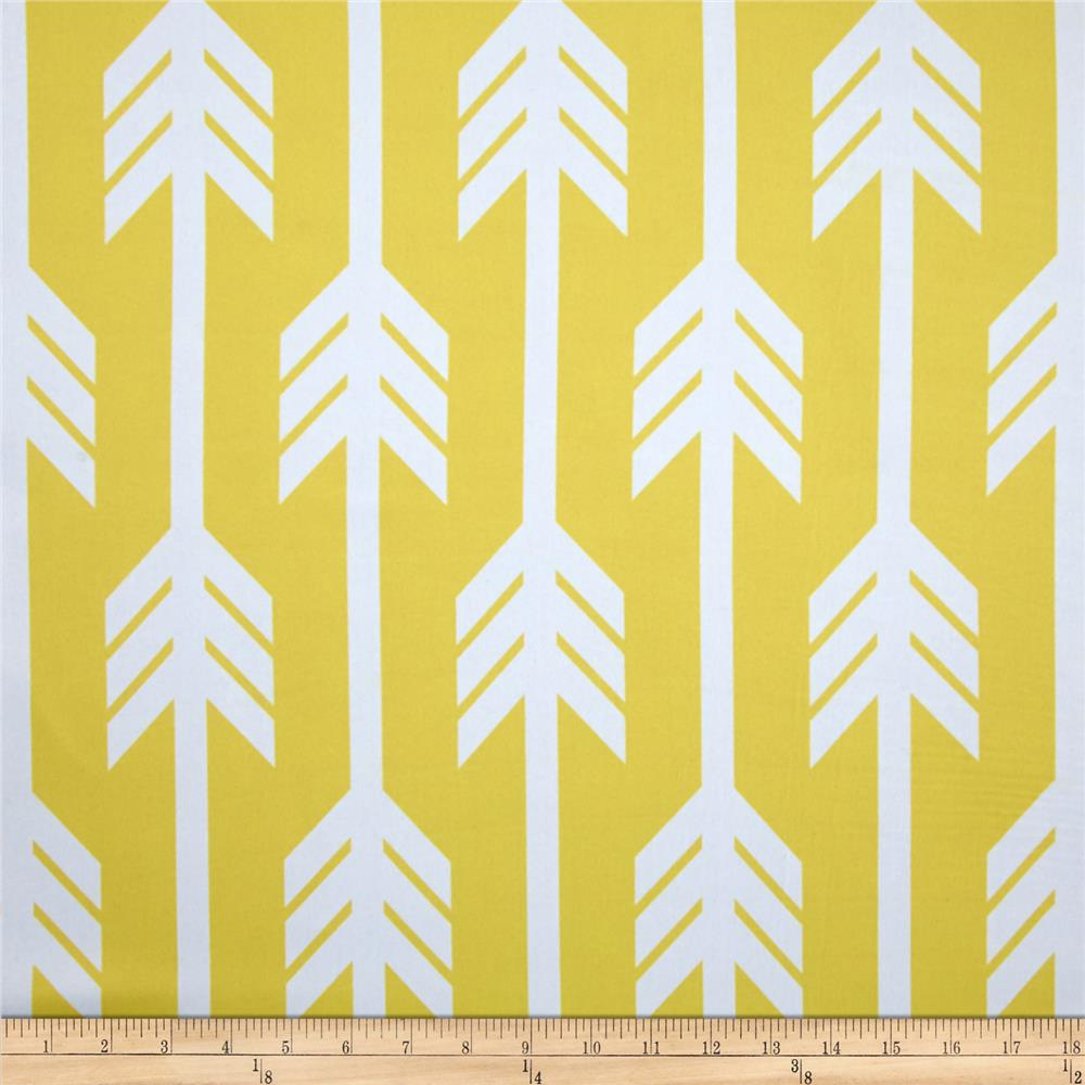 RCA Arrows Blackout Drapery Fabrics Lemon/White