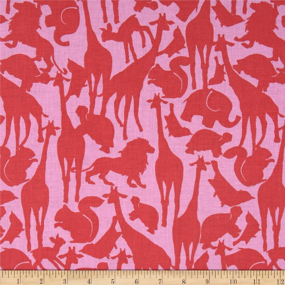 Michael Miller Cynthia Rowley Oh Baby Animal Silhouettes Coral
