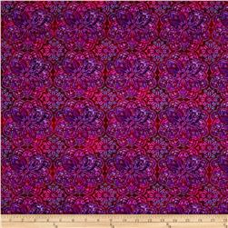 Mariposa Meadow Medallions Purple/Red
