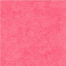 Plush Coral Fleece Solid Fuschia