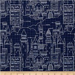 Michael Miller Sarah Jane Magic Castle Plans Navy